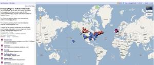 Google Map of Ordinariate Groups (so far)