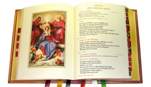 Sample pages from the new missal