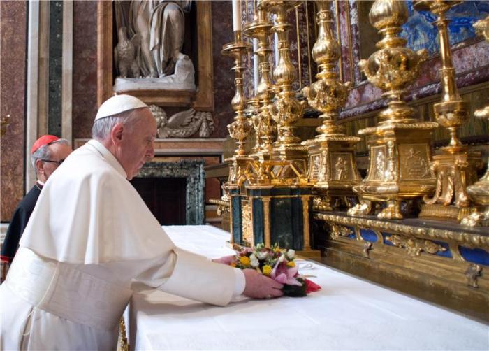 Pope Francis at Santa Maria Maggiore
