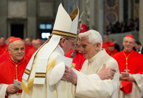 The two popes today