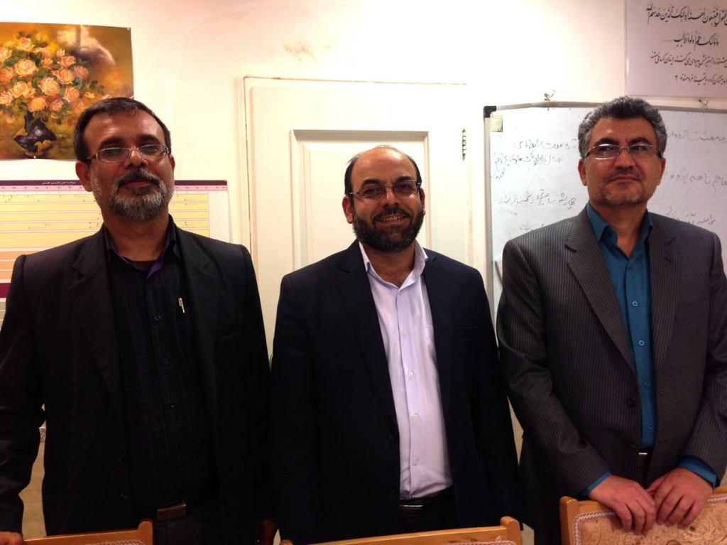 (l-r) Professors Sulemaniye, Meftah & Ghanbari