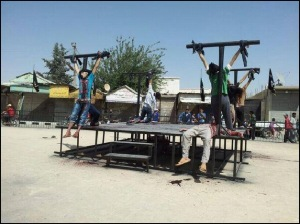 Christians crucified by IS jihadists