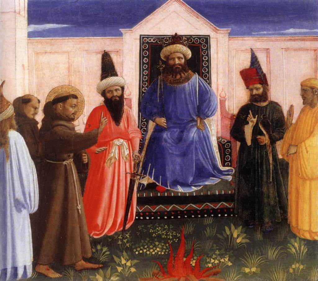 St Francis preaches to the Sultan of Egypt