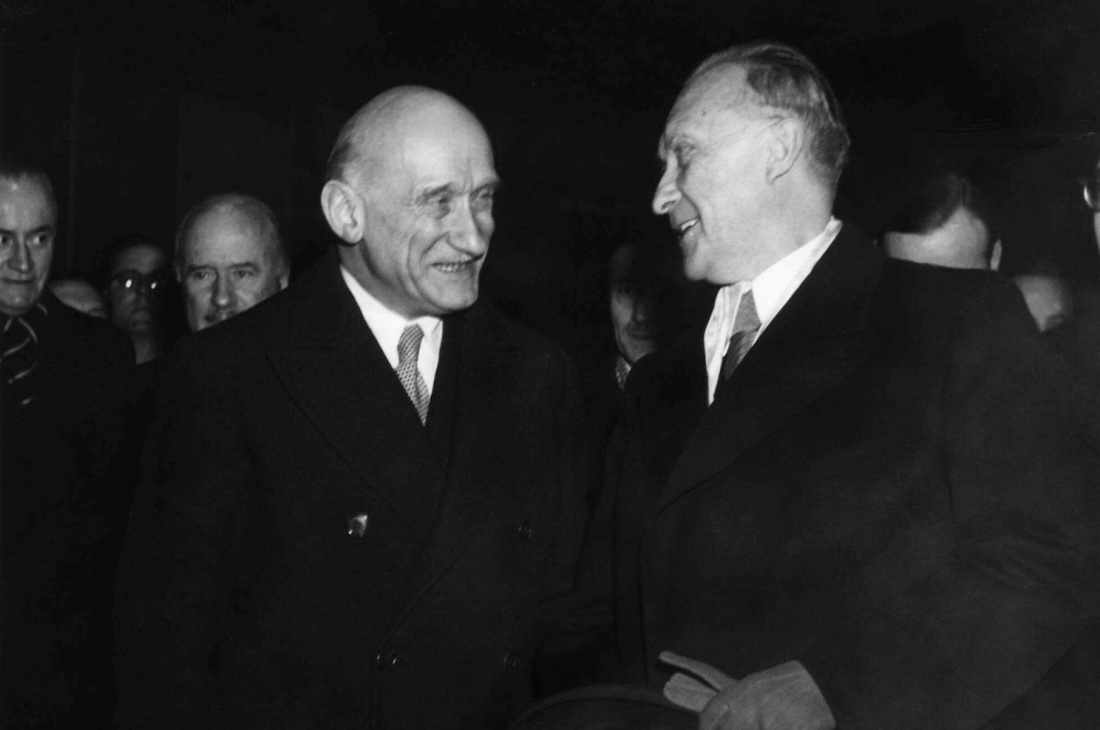 Germany Bonn Robert Schuman and Konrad Adenauer